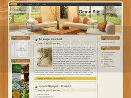 Wordpress Themes Wooden Living Room v1.0