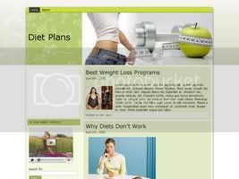 Wordpress Themes Diet green