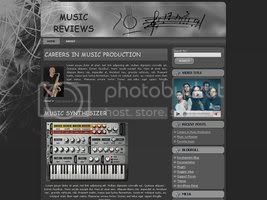 Wordpress Themes Ebony and ivory music