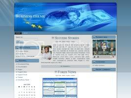 Wordpress Themes finance blue