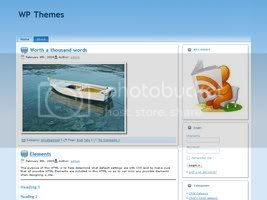 Wordpress Themes Elegant Blue